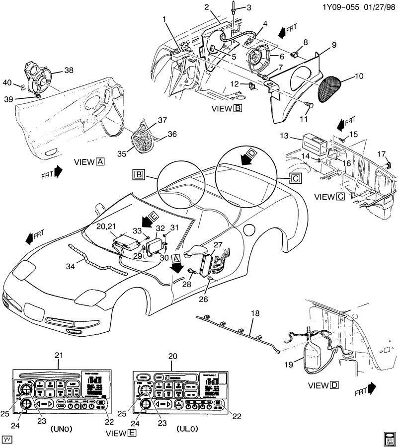 2000-04 Chevy Corvette C5 LH Seat Control Module OEM