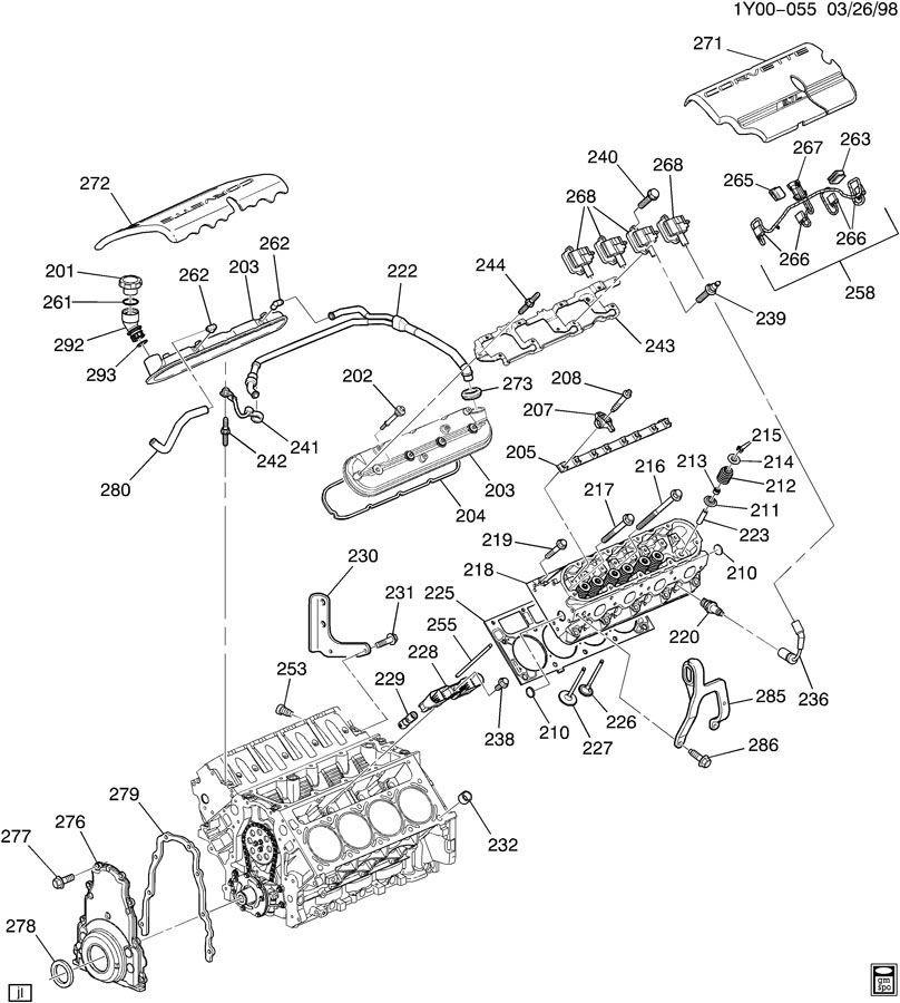 1997-04 Corvette C5 ACDelco Spark Plug Wires W/Heat Shield