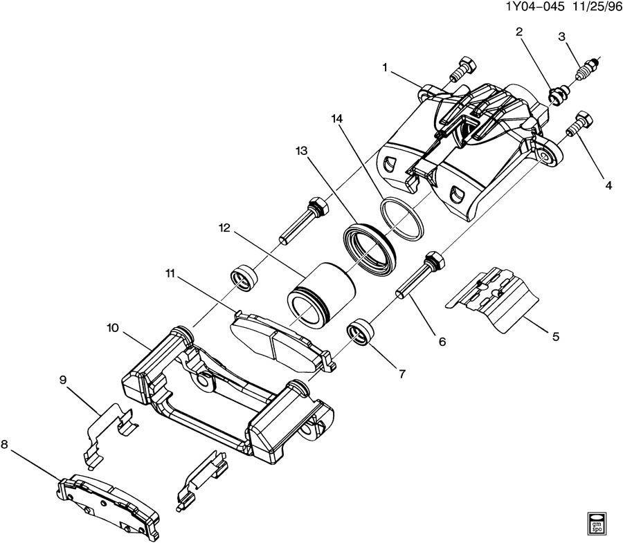 1997-2004 Chevy Corvette C5 Rear Brake Caliper Bracket