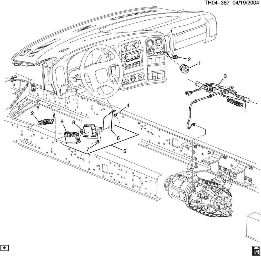 05-09 Topkick/Kodiak C4500 Transfer Case Shift Control