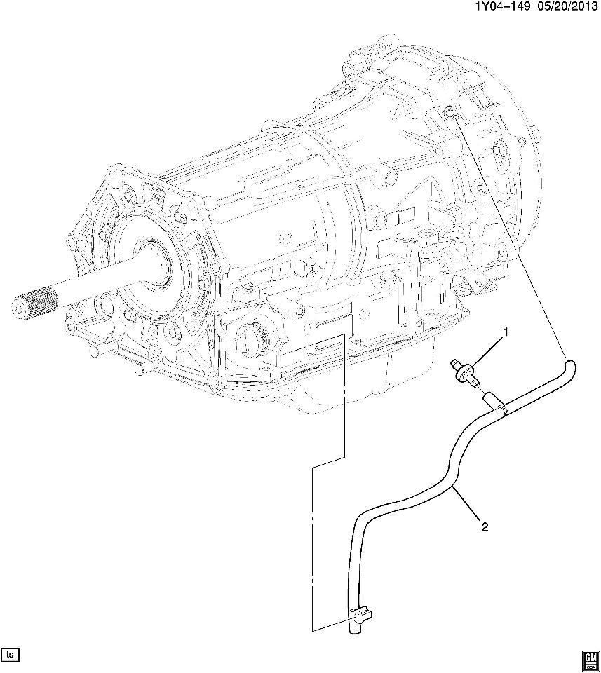 2014-2015 Chevy Corvette Auto Transmission Vent Tube New