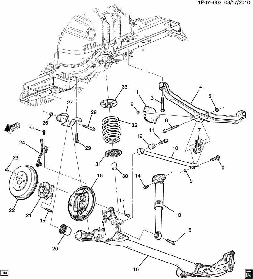 2011-2016 Chevy Cruze Volt Rear Left LH Suspension Bracket