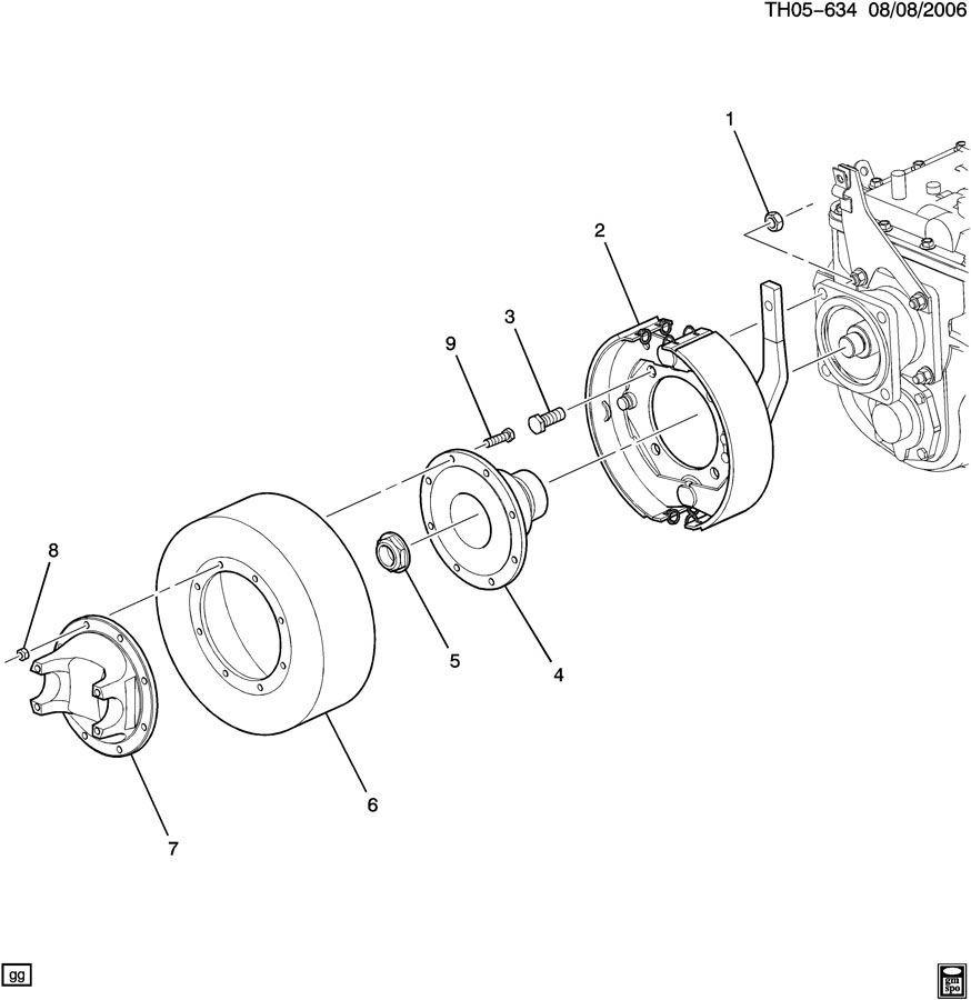 2003-2009 Topkick/Kodiak Propeller Shaft Universal Joint