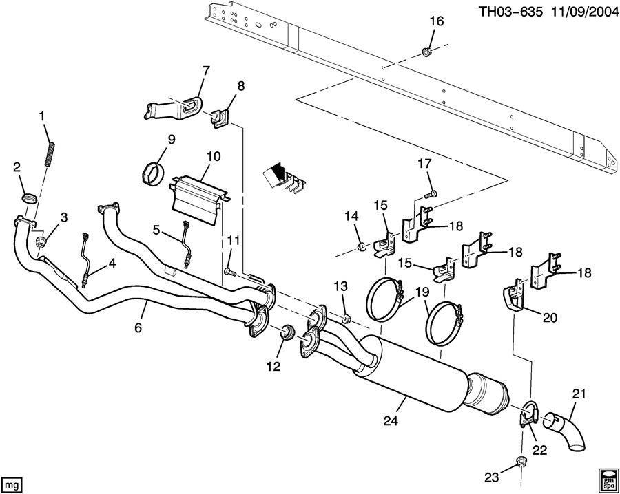2003-2009 GMC Topkick & Chevy Kodiak Exhaust Ring Seal