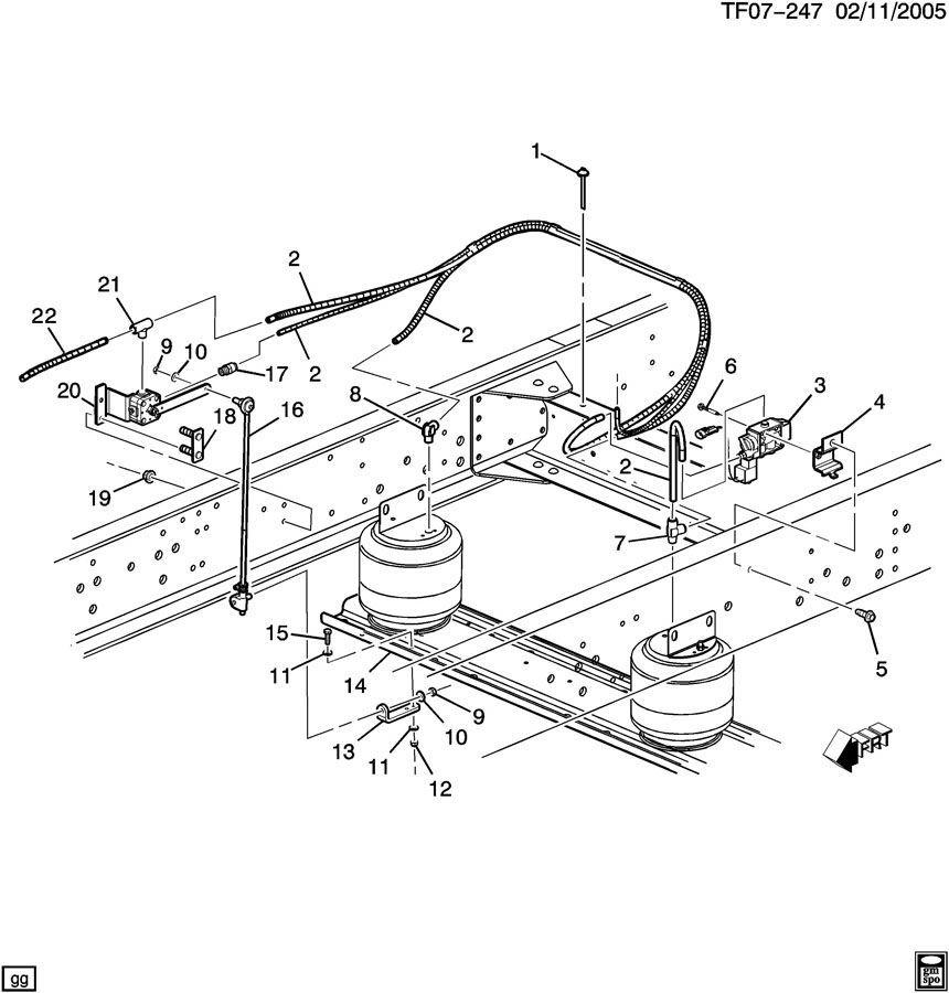 03-09 Topkick/Kodiak C&T6500-C&T8500 Rear Air Suspension