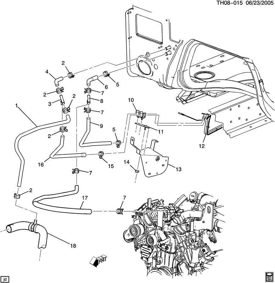 2007 Saturn Sky Parts Diagram Engine