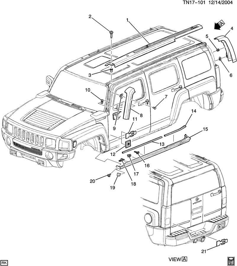 2006-2010 Hummer H3/H3T Emblem 5