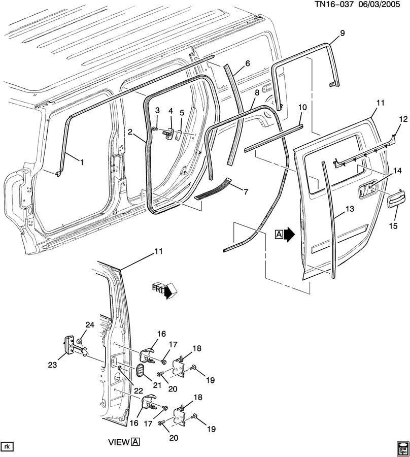 2003-2009 Hummer H2 Door Lock Striker Shim Clear Plastic
