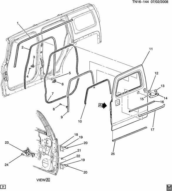 [2006 Hummer H2 Sut Driver Door Latch Repair Diagram