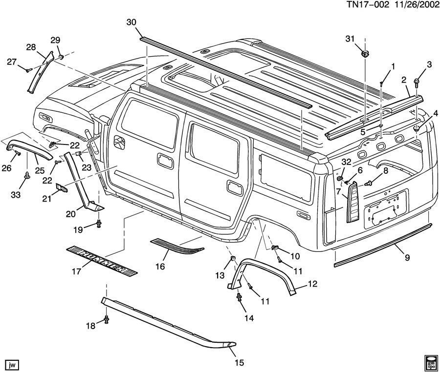Service manual [2007 Hummer H2 Digram For A Rear Floor