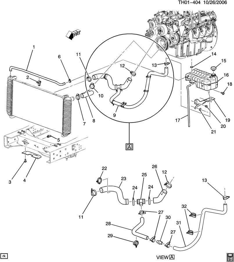 03-09 Topkick Kodiak C4500-C8500 Radiator Coolant Surge
