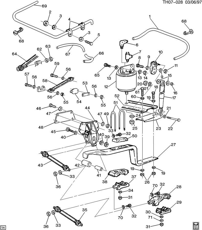 1997-2009 GMC Topkick/Chevy Kodiak Rear Axle Arm New