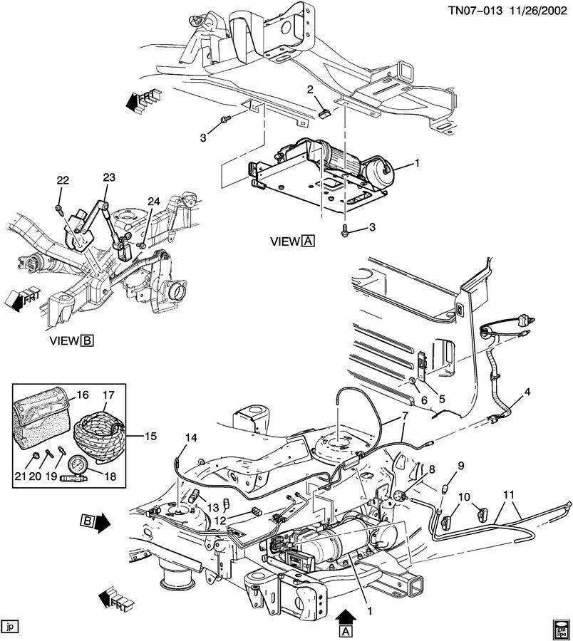 2003-2009 Hummer H2 Rear RH Suspension Height Level Sensor