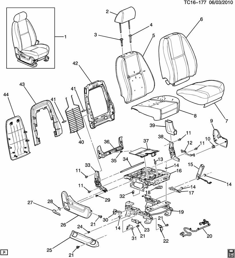2007-2014 GM Trucks Right RH Seat Adjustment Cover Black