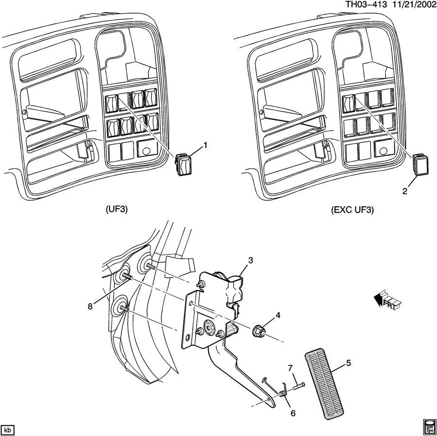 2003-09 Topkick Kodiak C4500-C8500 Accelerator Pedal Assy