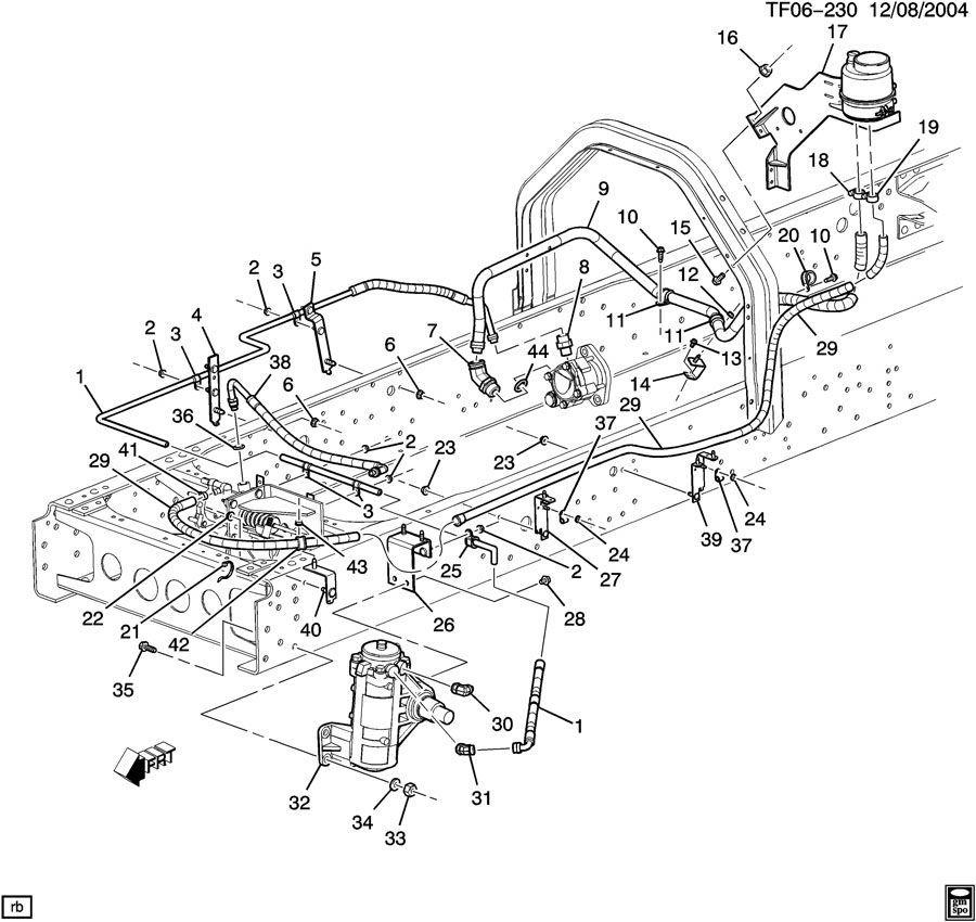 06-09 Topkick/Kodiak T6500-T7500 Power Steering Hydraulic