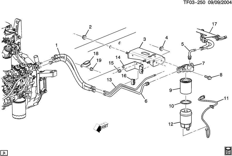 2004-2009 Topkick/kodiak Fuel Filter Mounting Bracket New