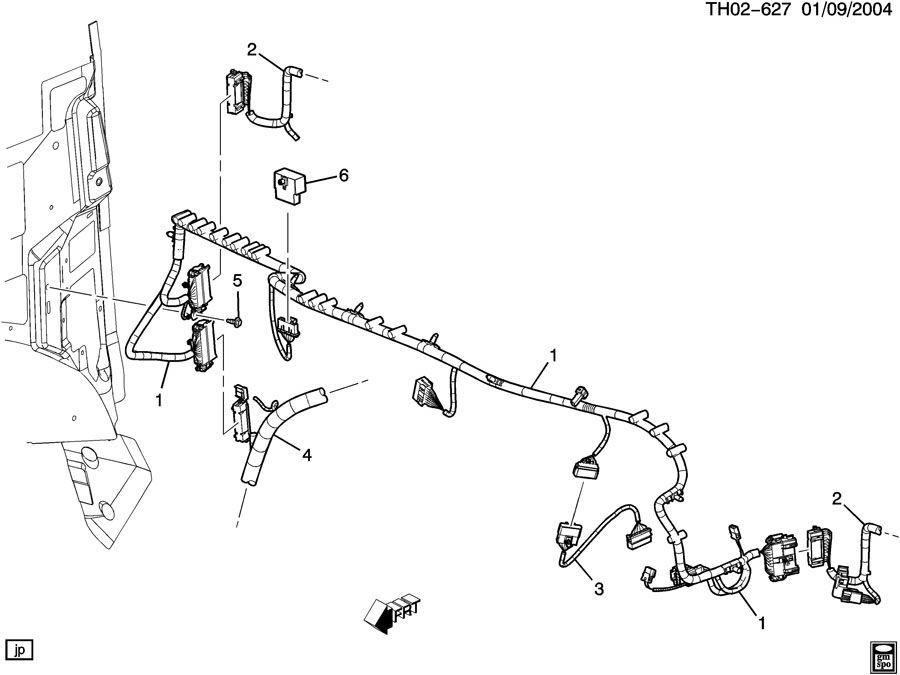 2003-2009 GMC Topkick/Chevy Kodiak Harness W/Brake Switch