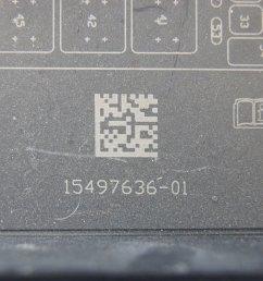2005 2013 chevrolet corvette c6 fuse box lid cover used 15497636  [ 1200 x 797 Pixel ]