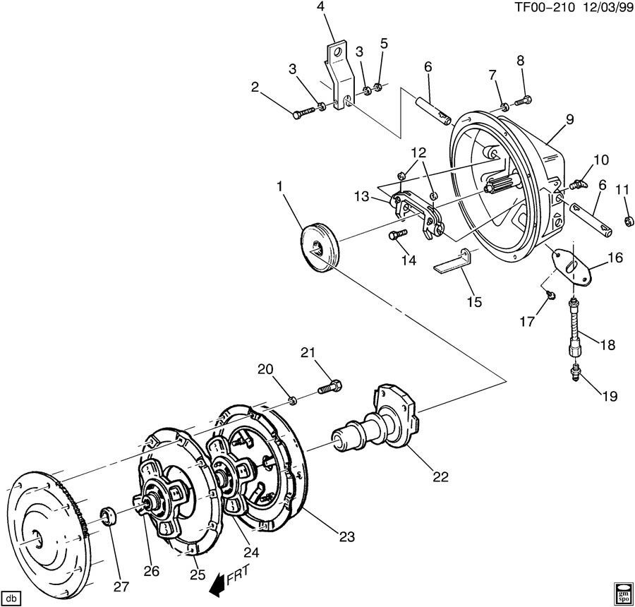 1990-2009 GM Topkick/Kodiak Clutch Bearing Release Grease