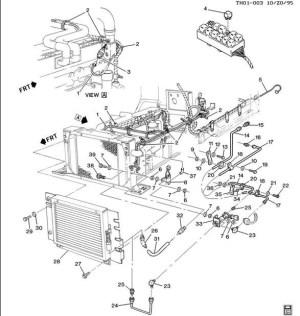 Radiator Shutter Air Engine Cooling Vent GMC Topkick