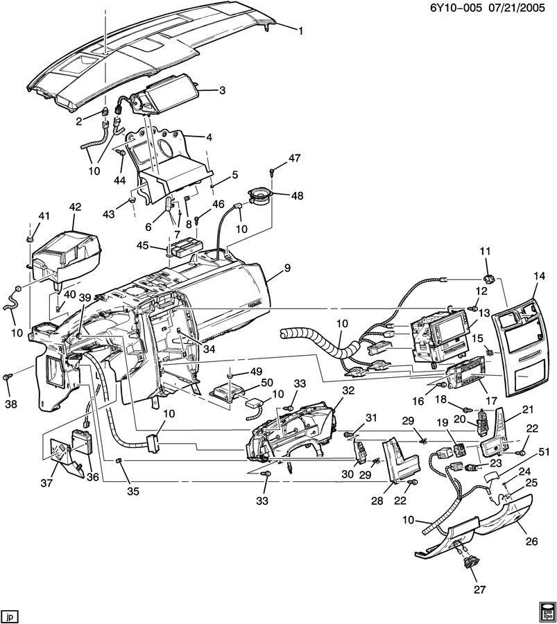 2004-2009 Cadillac XLR RH Ebony Plastic Engine Start
