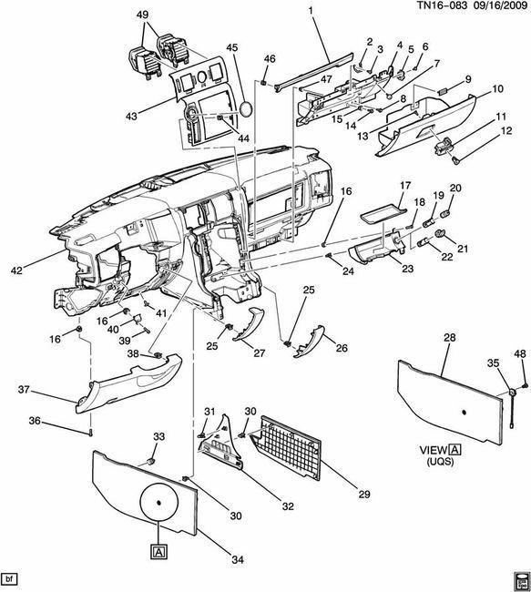 2008-2009 Hummer H2 Lower Left Dash Panel Filler Trim New