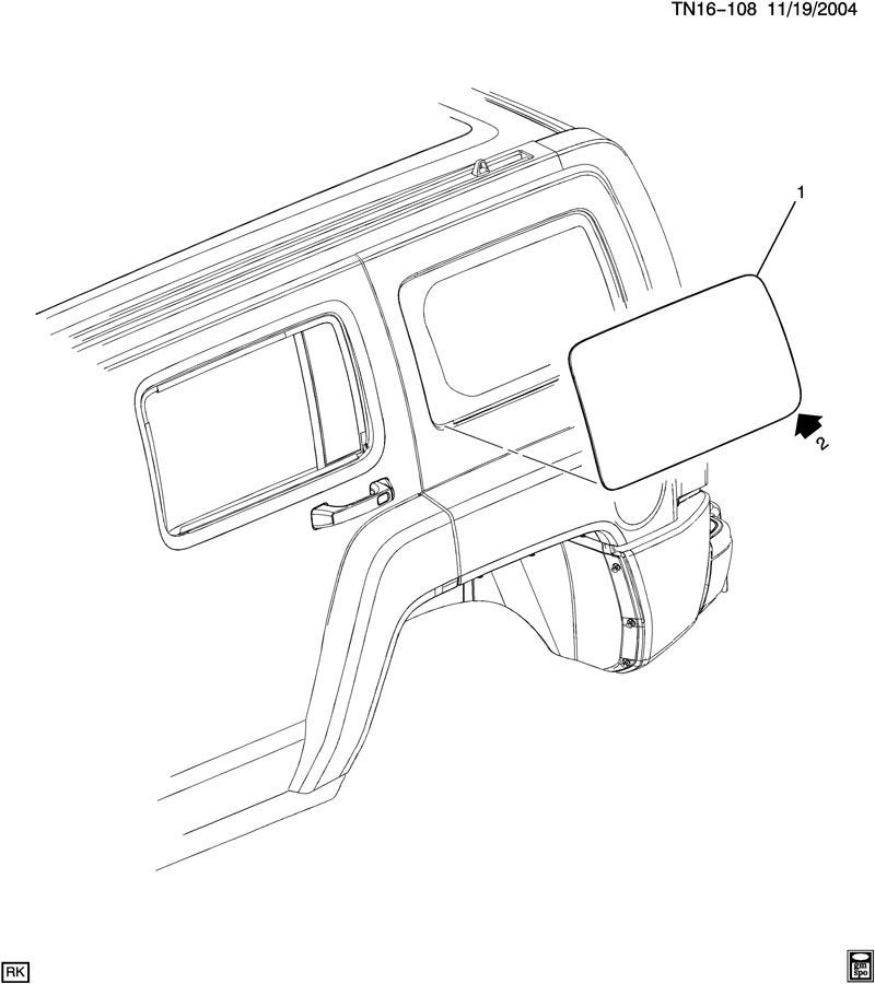 2006-2010 Hummer H3 Rear Right RH Quarter Glass Window Non