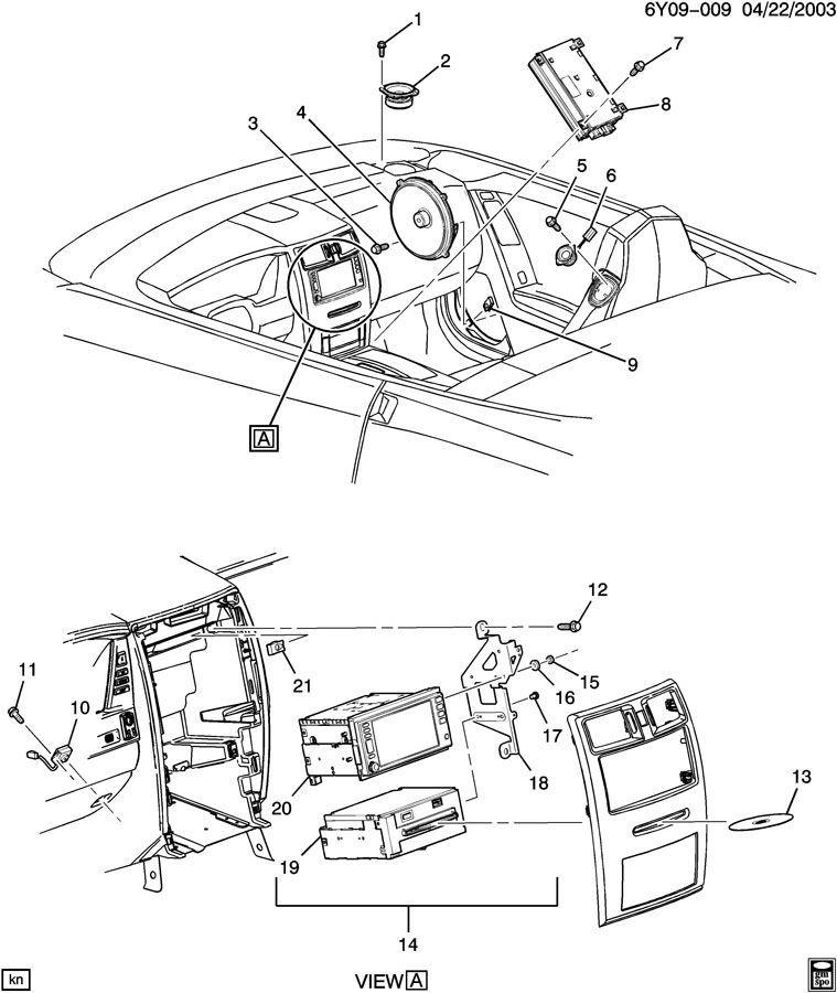 2004-09 Cadillac XLR AM/FM/CD/DVD/Navigation Unit Used