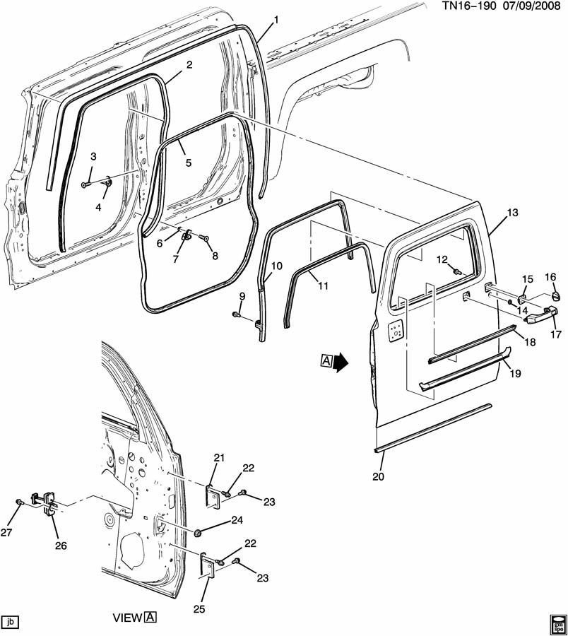 06-10 Hummer H3 Weatherstrip Upper Window Channel Front