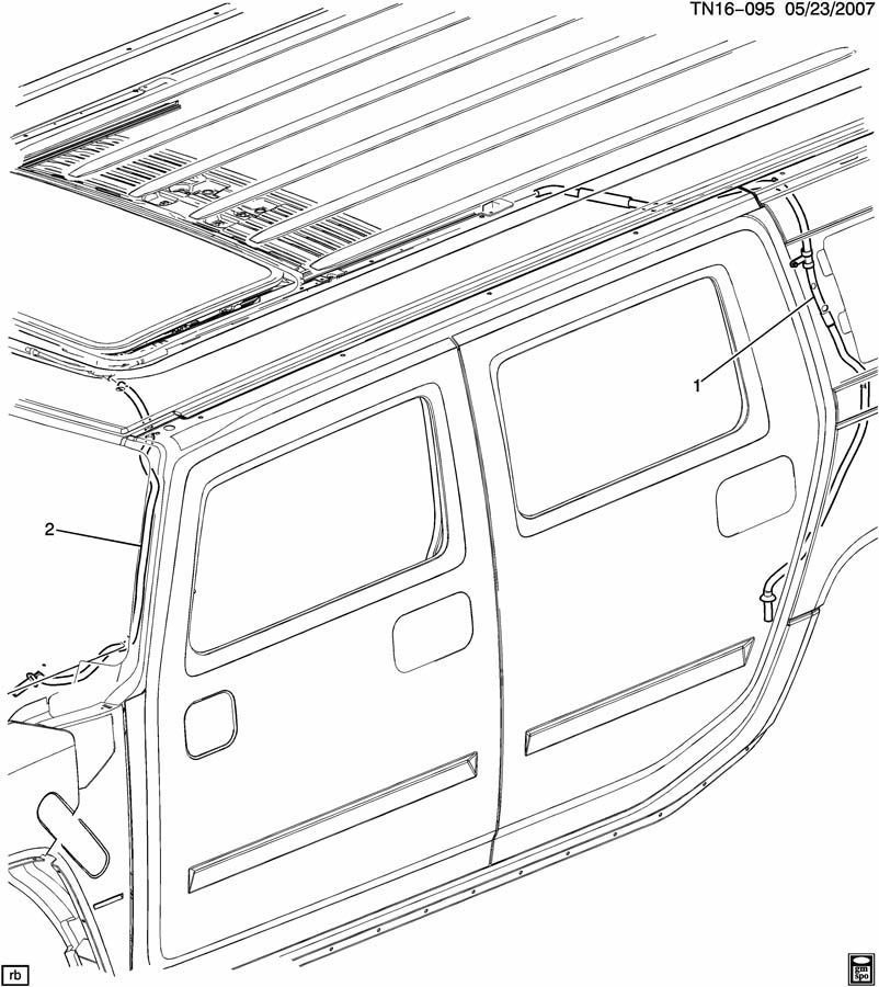 Hummer H3 Sunroof Drain Diagram, Hummer, Get Free Image