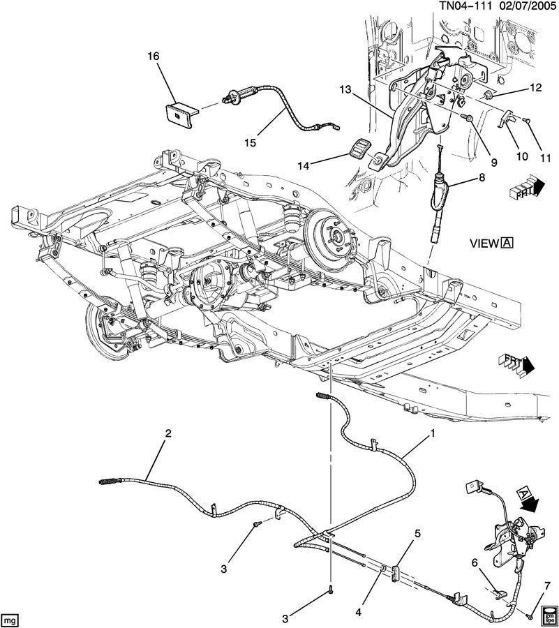 2006-2010 Hummer H3 LH E Emergency Park Parking Brake