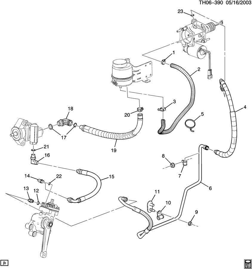 Hose,P/S Fluid Reservior Outlet Topkick Kodiak 6.6 Duramax