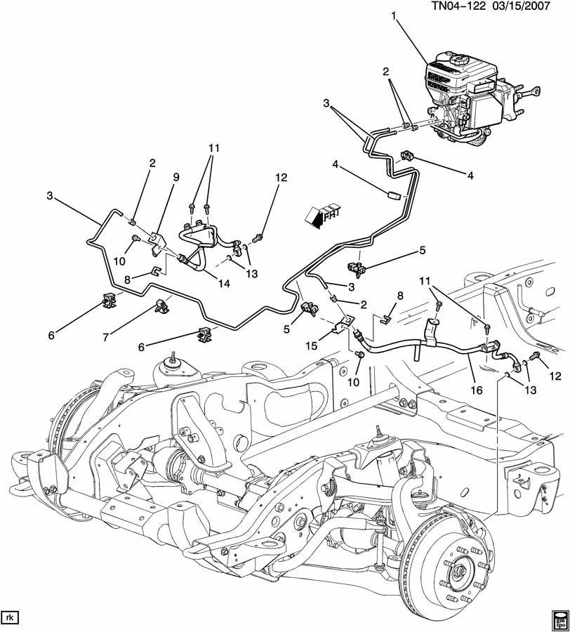 AC Delco GM LH Front Brake Hose 15921147 Hummer Silverado