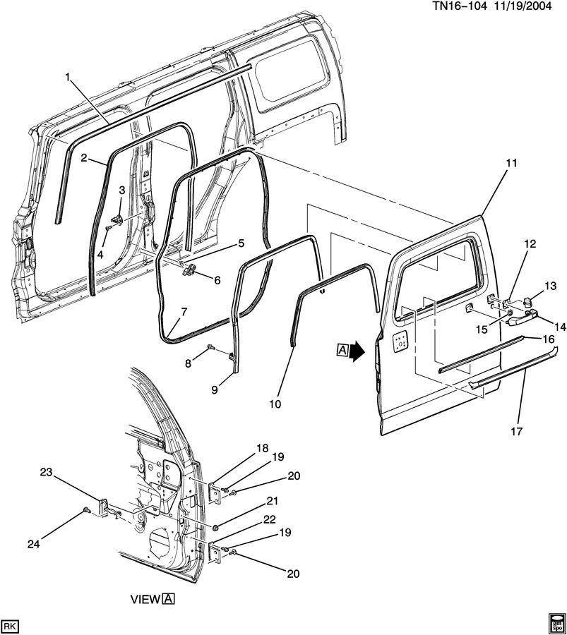 2003-2009 Hummer H3 Rubber Outside Door Handle Cap Gasket