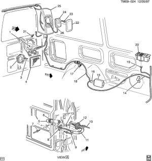 19962005 Chevy Astro GMC Safari Rear Right Speaker Grille