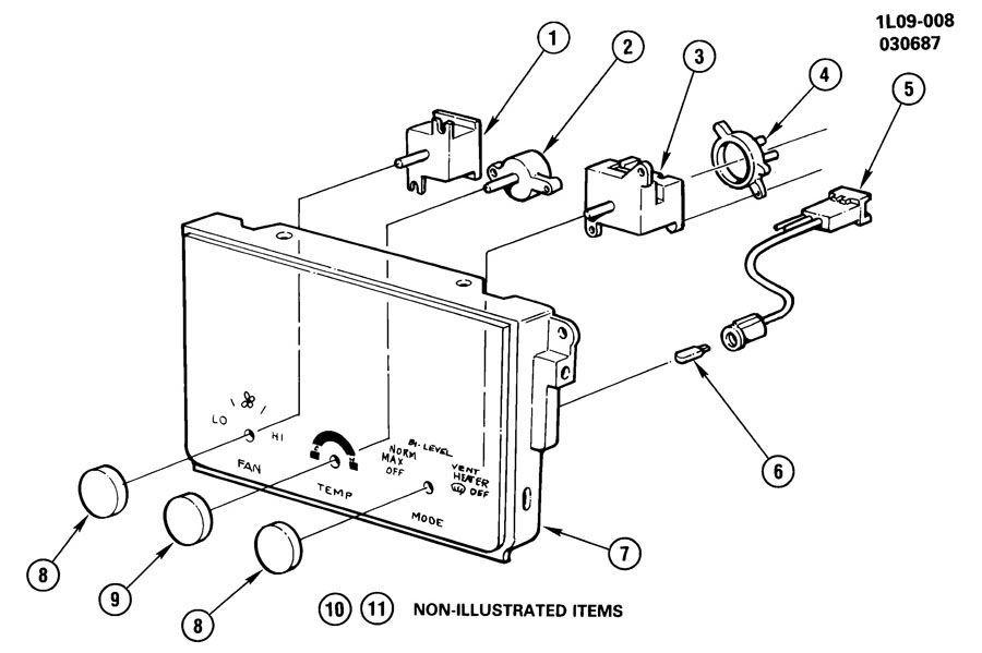 1987-1990 Beretta Corsica A/C Control Knob New OEM Genuine