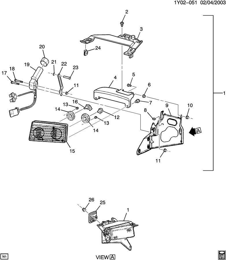 1997-2004 Chevy Corvette C5 Left LH Headlight Bracket New