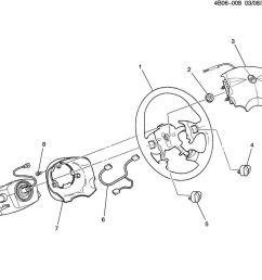 2002 2007 buick rendezvous steering wheel wire harness new oem 16826102 [ 900 x 881 Pixel ]