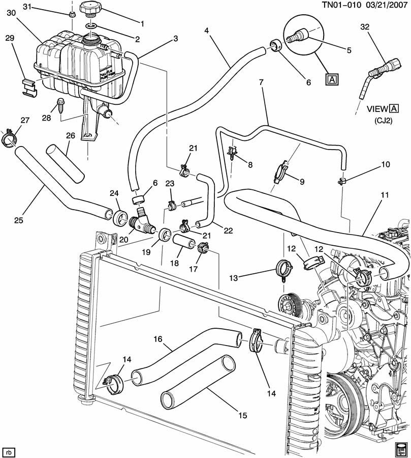 2008-2009 Hummer H2 Upper Radiator Inlet Hose New OEM