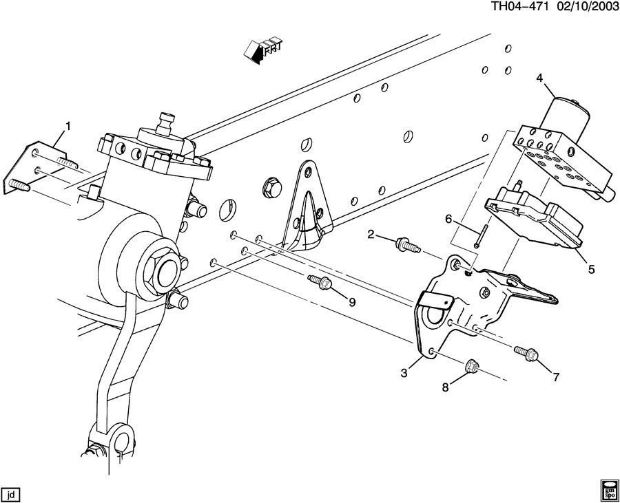 2003-2009 Topkick Kodiak EBCM Brake Control Module Bracket