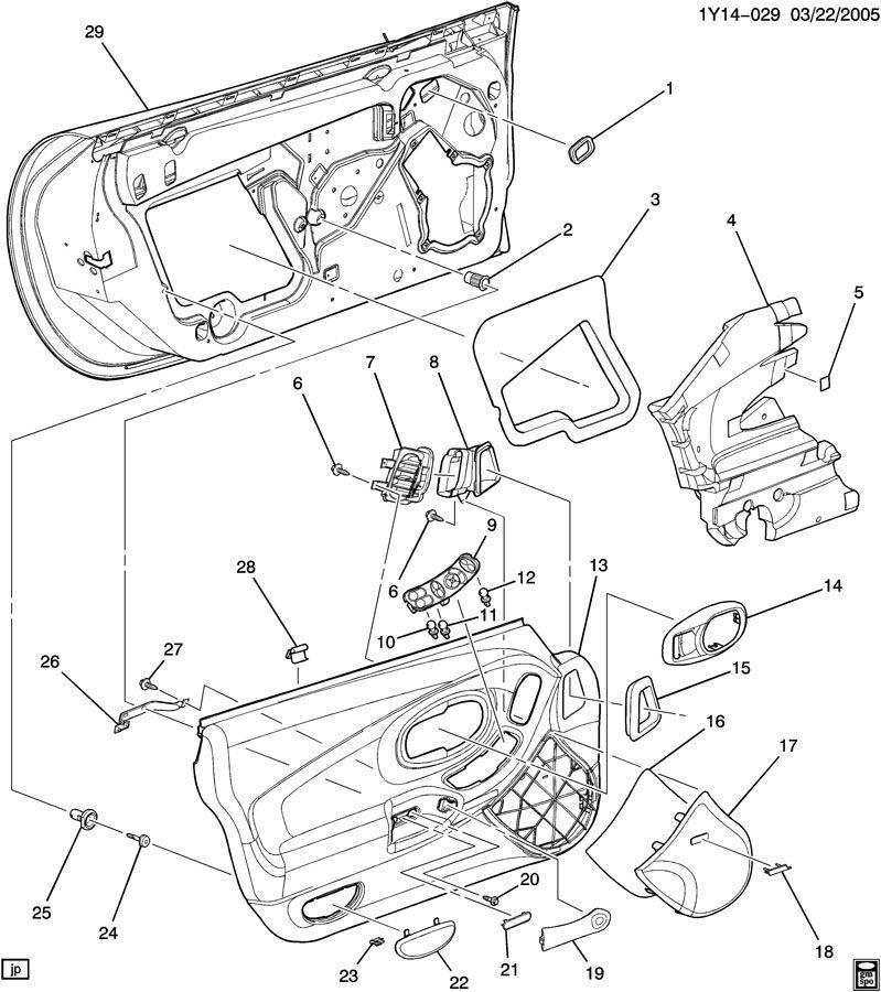 1997-2004 Chevy Corvette C5 Master Power Window Switch LH