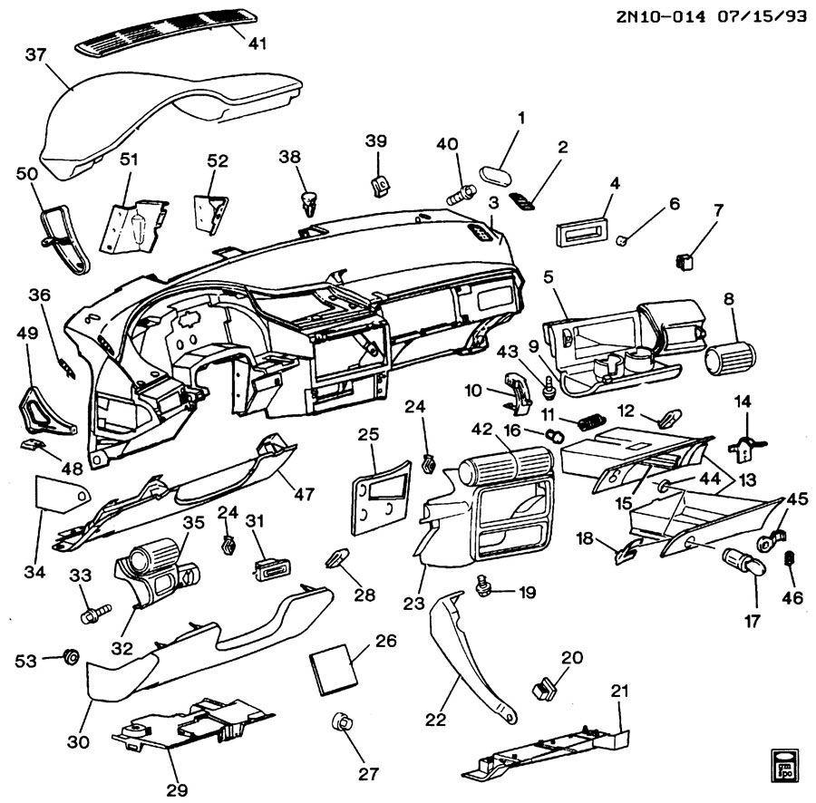 1984-1995 Beretta Corsica Grand Am Console Lock Pawl New