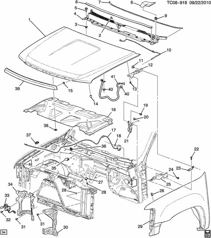 GM 20763454 Hood Latch & Switch/Sensor 2007-2014 Silverado