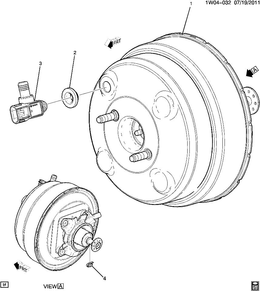 2012-2014 Chevrolet Impala/Limited Power Brake Booster New