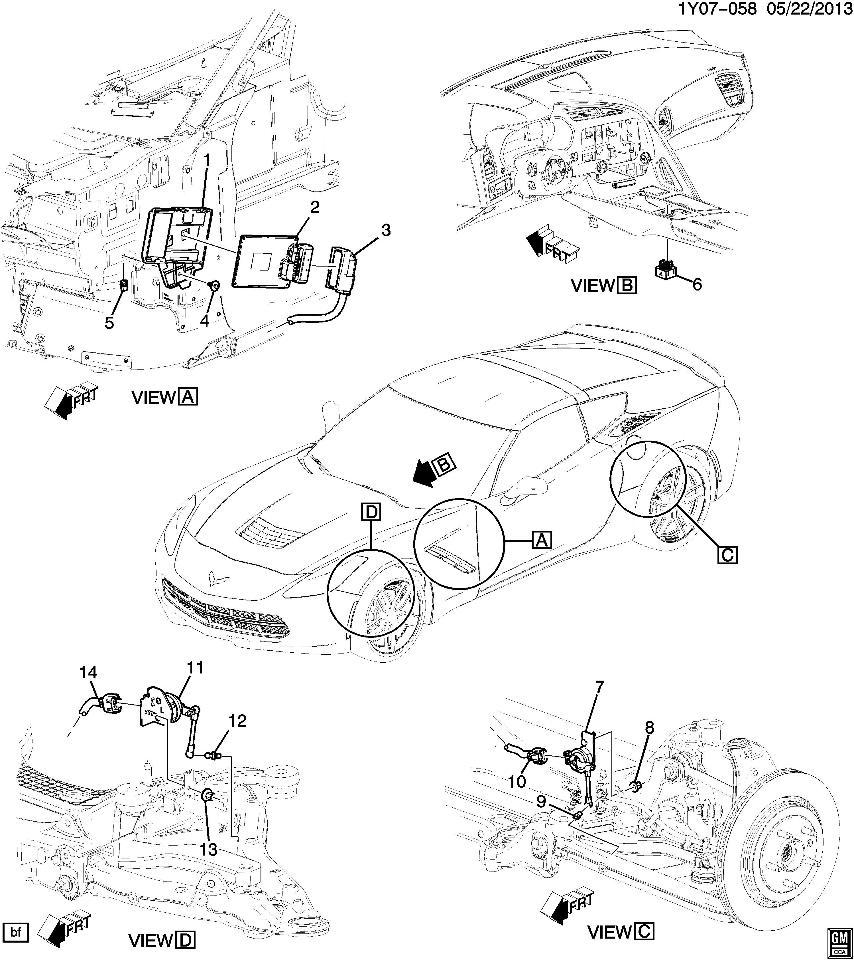 2014-2015 Chevrolet Corvette C7 Electronic Suspension ECU