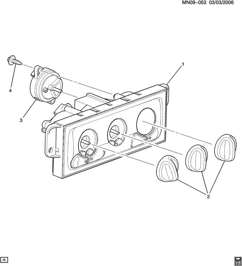 1997-2000 Chevrolet Malibu Heater & A/C Control Panel New