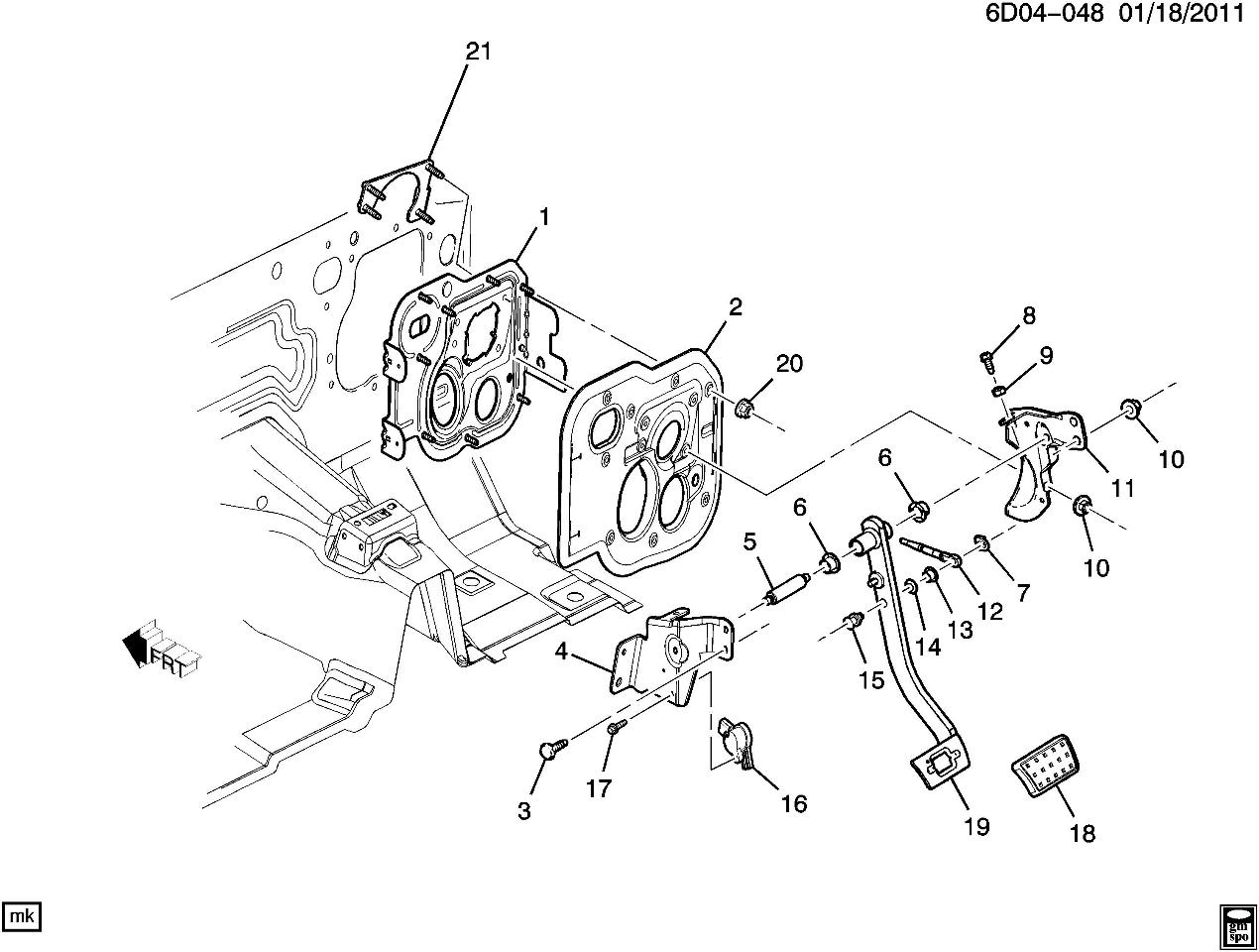 2006-2010 Solstice SKY Brake Pedal Position Sensor New OEM