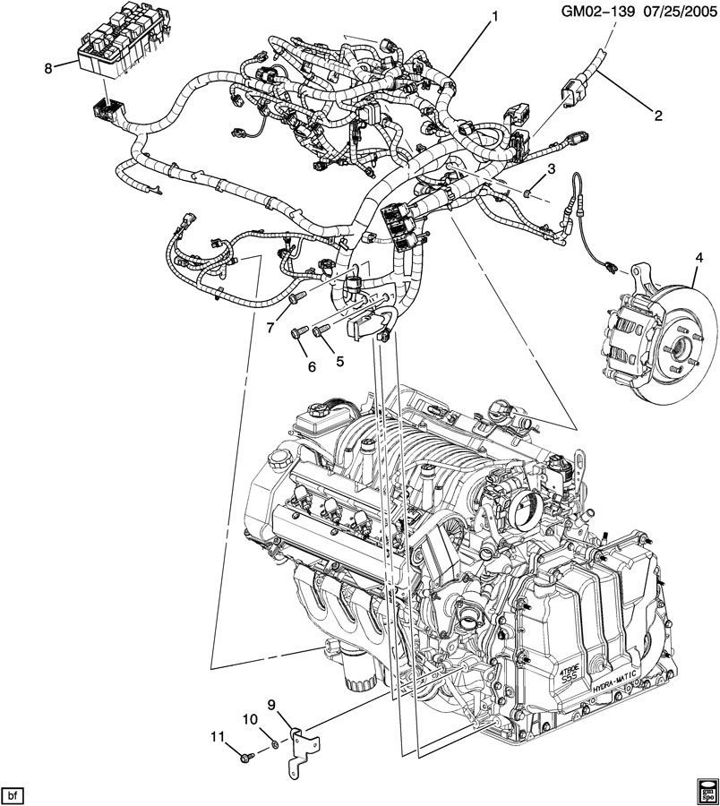 4 6l cadillac diagram of the engine