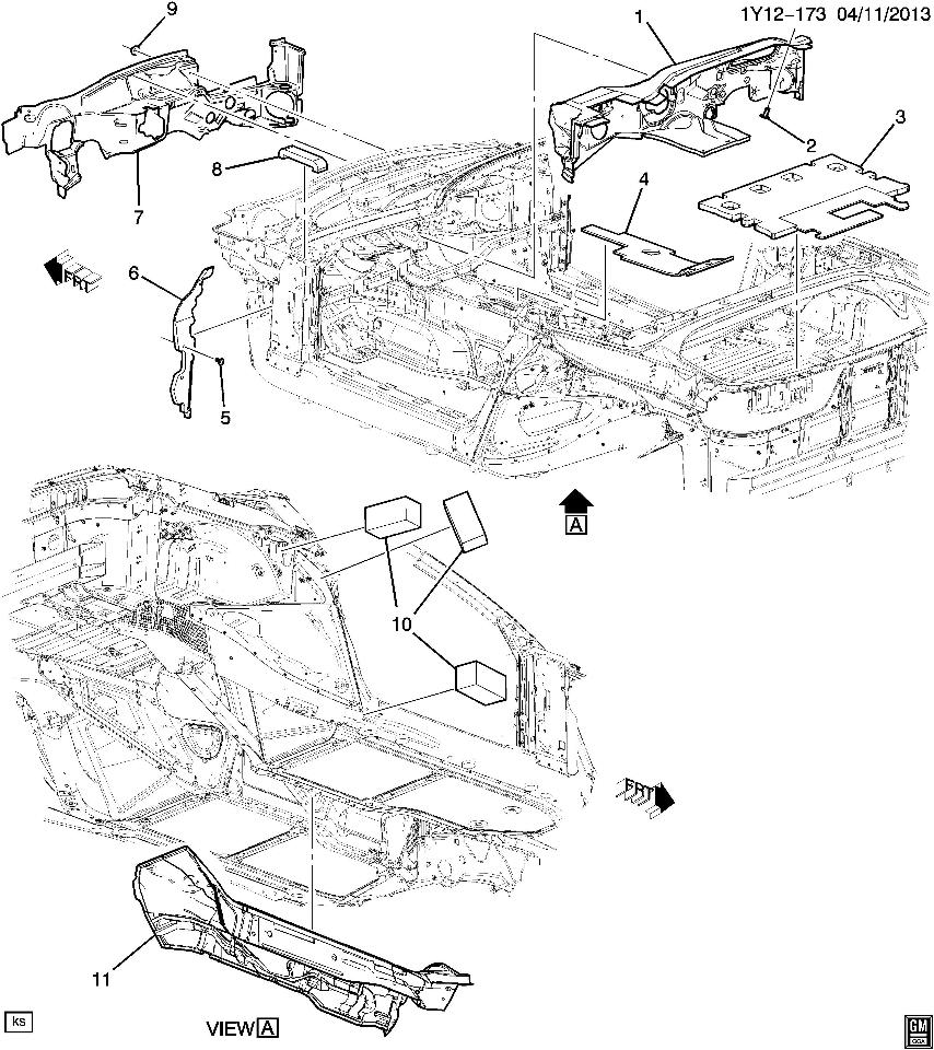 2015 Chevrolet Corvette C7 Dash Panel Barrier Shroud New